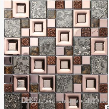 The mosaic backdrop of European modern interior wall tile color mosaic decorative art stickers wholesale coffee