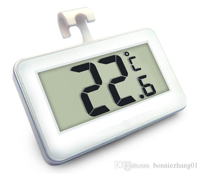 عالية الدقة 0.1 LCD ميزان الحرارة الرقمي ثلاجة برادات اختبار درجة الحرارة متر فروست تنبيه إنذار