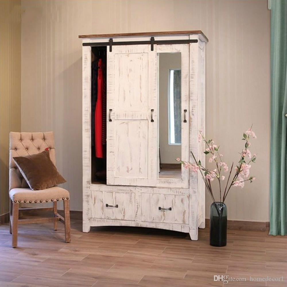 2018 4 66ft Mini Single Cabinet Wood Sliding Barn Door Window