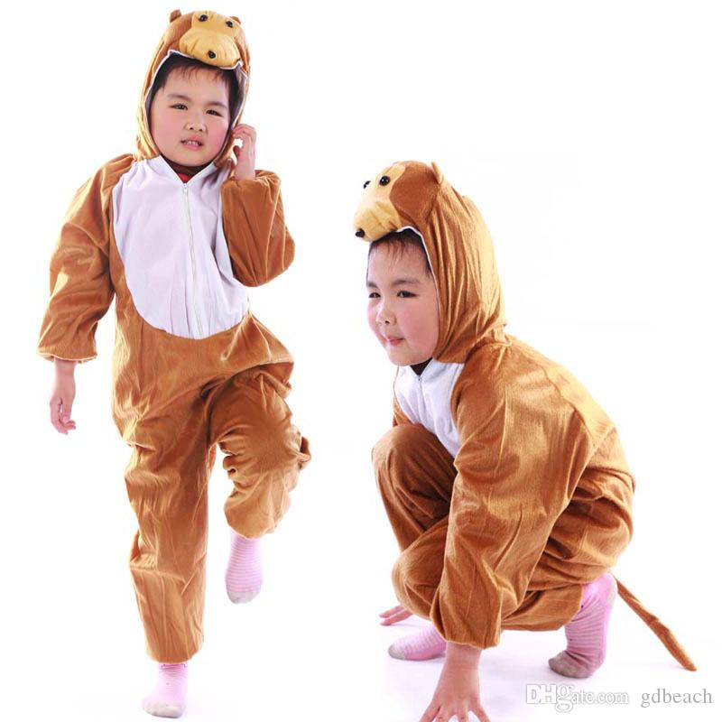 Christmas Halloween Gift Children Monkey Party Costume Cartoon Animal Kids Cosplay Costume Clothes Performance