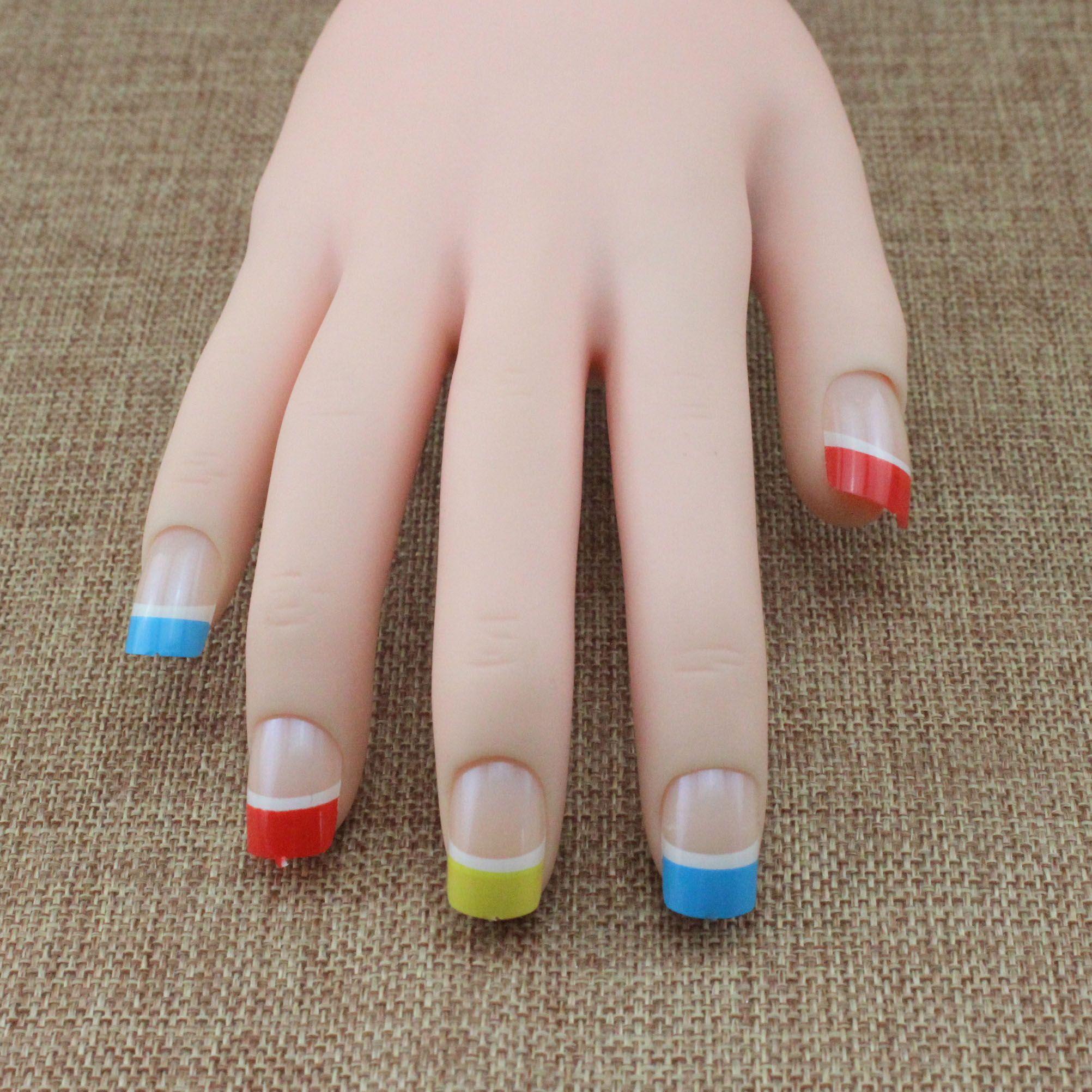 Fake Nails With 2g Glue Uv Gel Art Decorations False Nails Decoracao ...