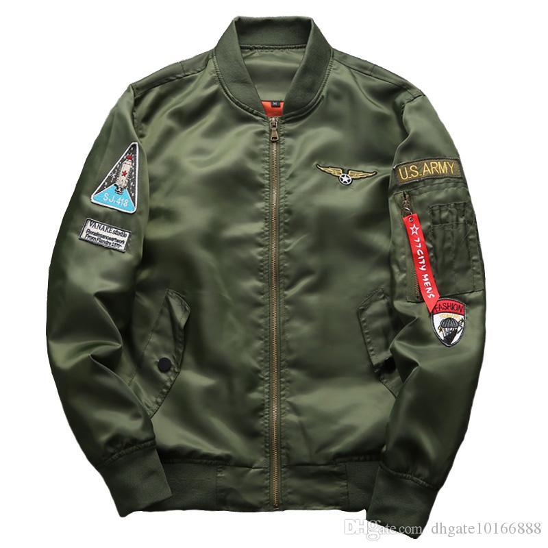 2017 Herbst und Winter Herren Mantel Die neue Militärstil Air Force One Pilot Jacke männlich Große Größe Herrenjacke.