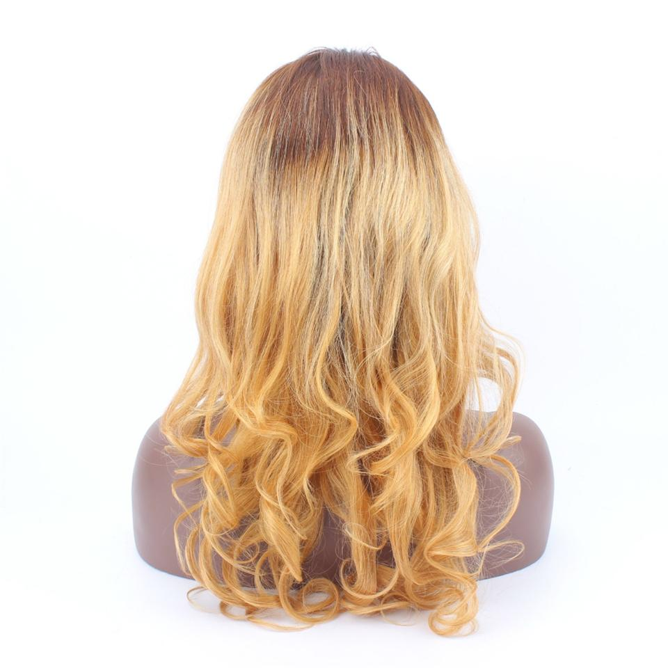 Sales Big Promotion 2 27 Ombre Wigs For Black Women Natural Wave Brazilian Full Lace Wigs Baby Hair Human Hair Wig
