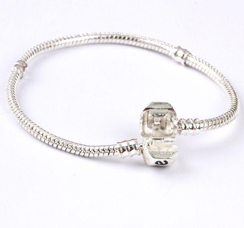 Silber überzogenes Liebes-Schlangenketten-Armband-Armband 17CM-20CM