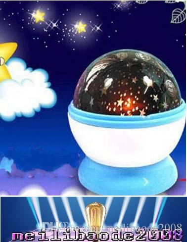 Room Novelty Night Light Projector Lamp Rotary Flashing Starry Star Moon  Sky Star Projector Kids Children Baby gifts MYY