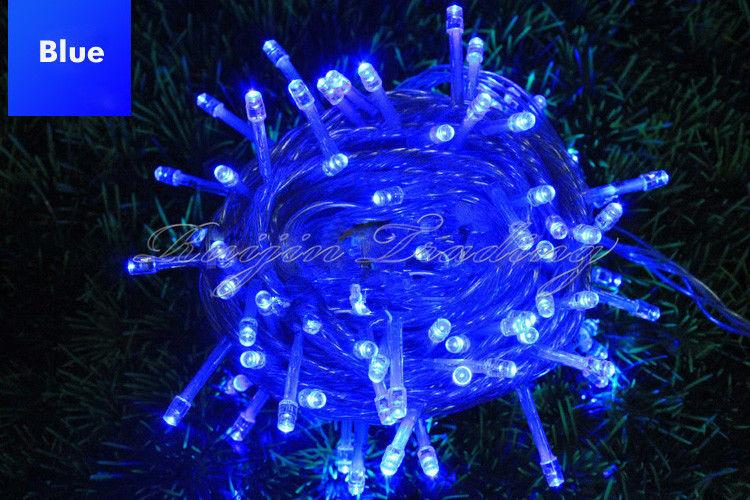 AC110V 220V 100/200/300/500 LED Curtain Lights Christmas Fairy String Lights For Wedding Holiday, Party, Outdoor Wall, Bathroom Decoration
