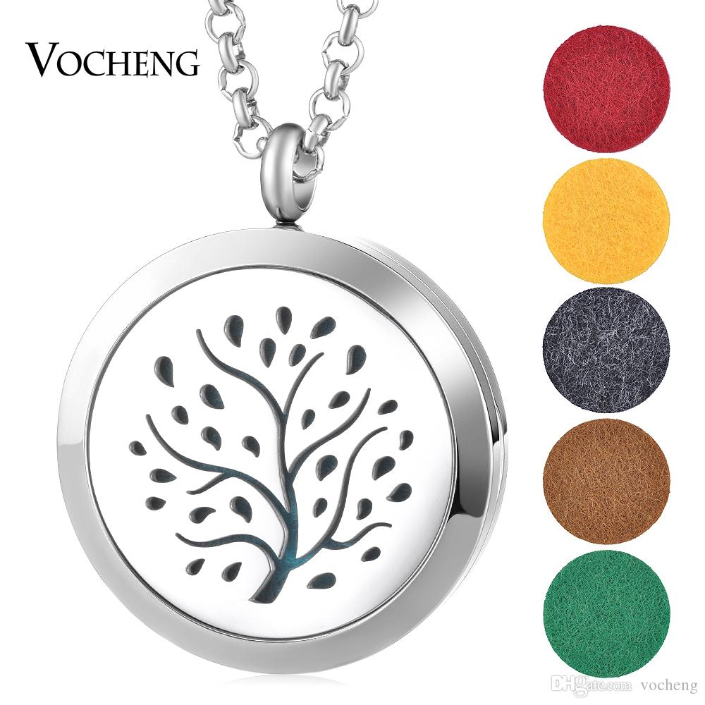 Hot Hollow Out Magnetic Aromatherapy Diffuser Necklace Jewelry Perfume Locket Pendant Essential Oil Scent Locket Necklace VA-490
