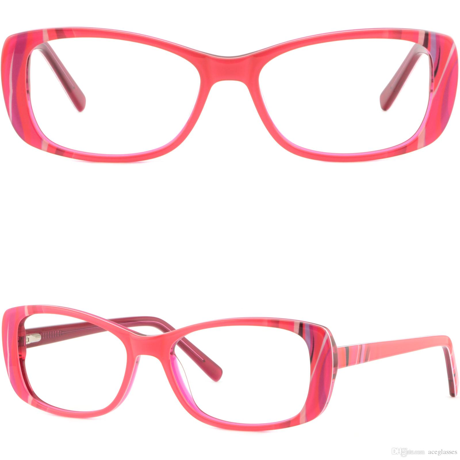 8be28b0aa41 Red Rectangle Womens Frame Plastic Prescription Glasses Sunglasses Spring  Hinges Glasses Frame Online with  35.87 Piece on Aceglasses s Store