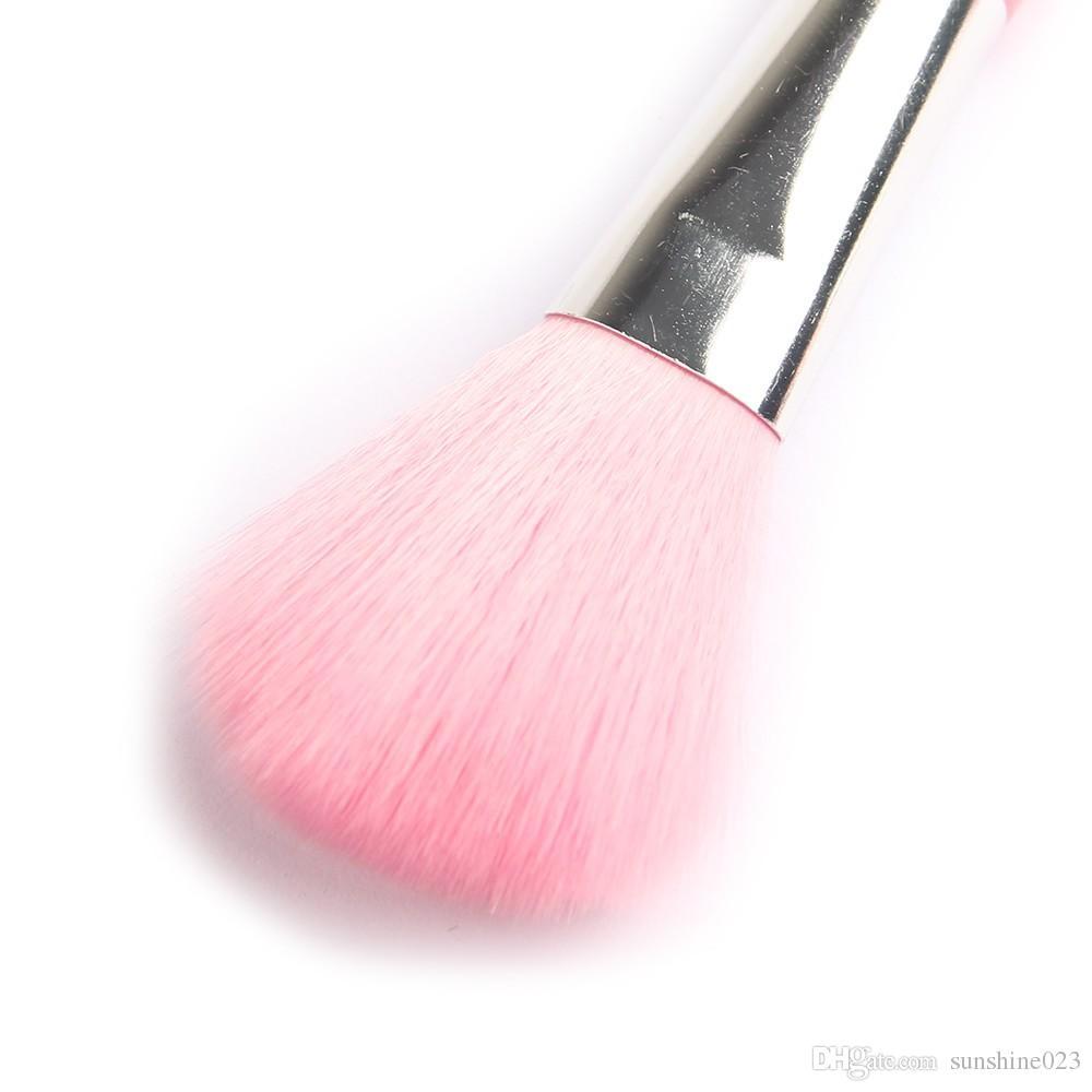 Hot Mini 5 Unids Rosa Maquillaje Pinceles Cosméticos Herramientas pincel maquiagem Eyeshadow Ojo Cara Lápiz Labial Maquillaje Cepillo Set Blush Soft envío gratis