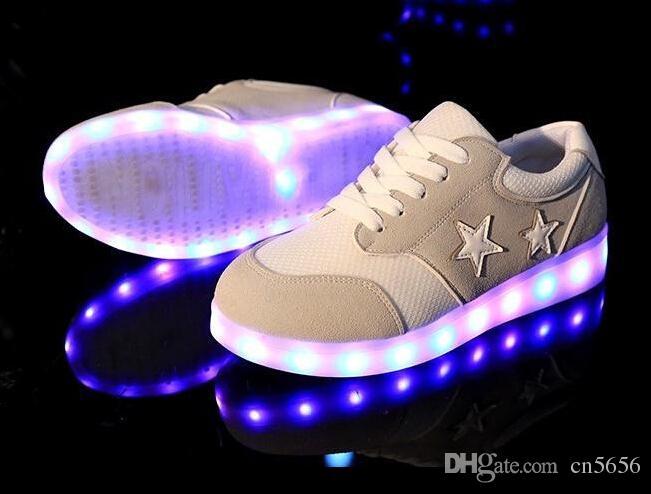 Led Shoes Glowing Men Women Fashion Luminous Led Light UP Shoes For Adults  Basket LED Shoes 01dec5d69d4d