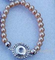 / Colori della miscela bambini Lunghezza 15 cm Perline fatte a mano Perle Noosa Pezzi Gioielli in metallo con bottone a pressione Ginger 12mm