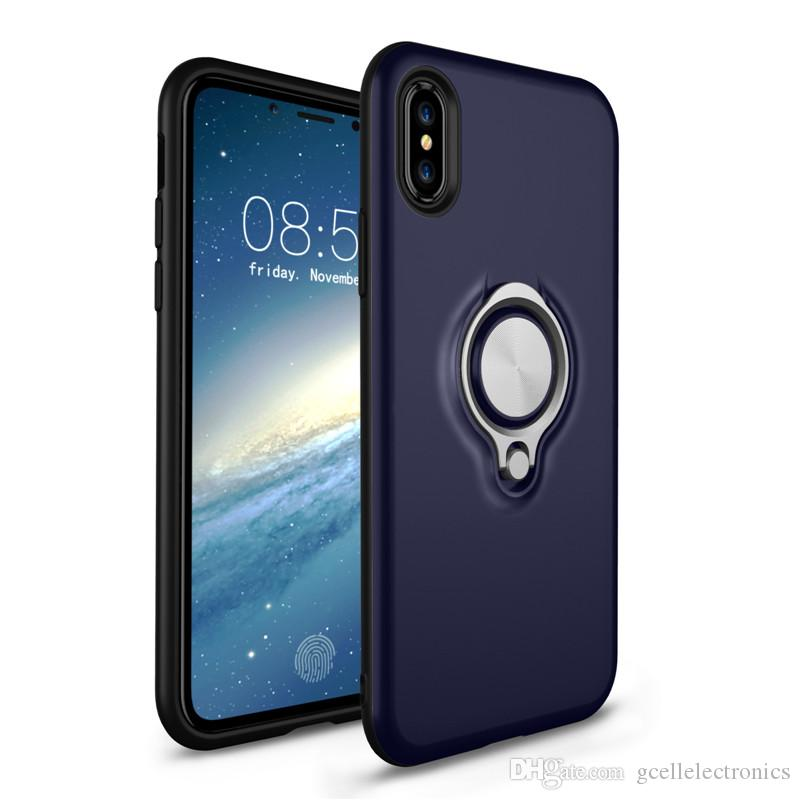 360 Degree Ring Holder Magnetic Cell Phone Cases For Iphone 11 Pro Max Samsung Galaxy Note 10 S20 Plus A10 Armor Hybrid Covers