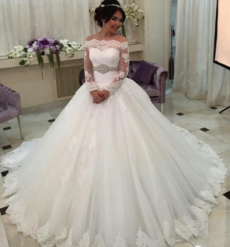 Cheap Plus Size Ball Gown Wedding Dresses: Discount Vintage Plus Size Wedding Dresses Off Shoulder