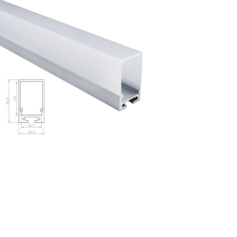 Grosshandel 100 X 1 Mt Satze Los Buro Beleuchtung Aluminiumprofil