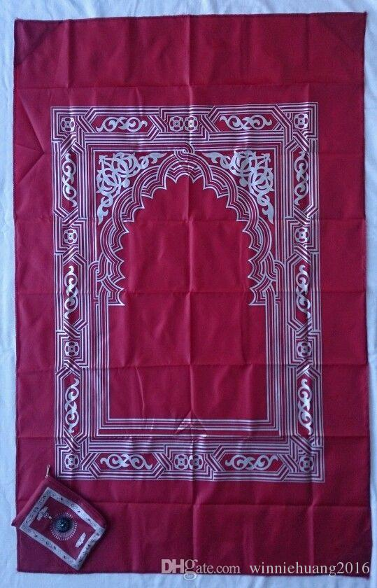 이슬람교 이슬람교를위한 Qibla Kaaba 발견 나침의를 가진 여행 소형기도 깔개 매트