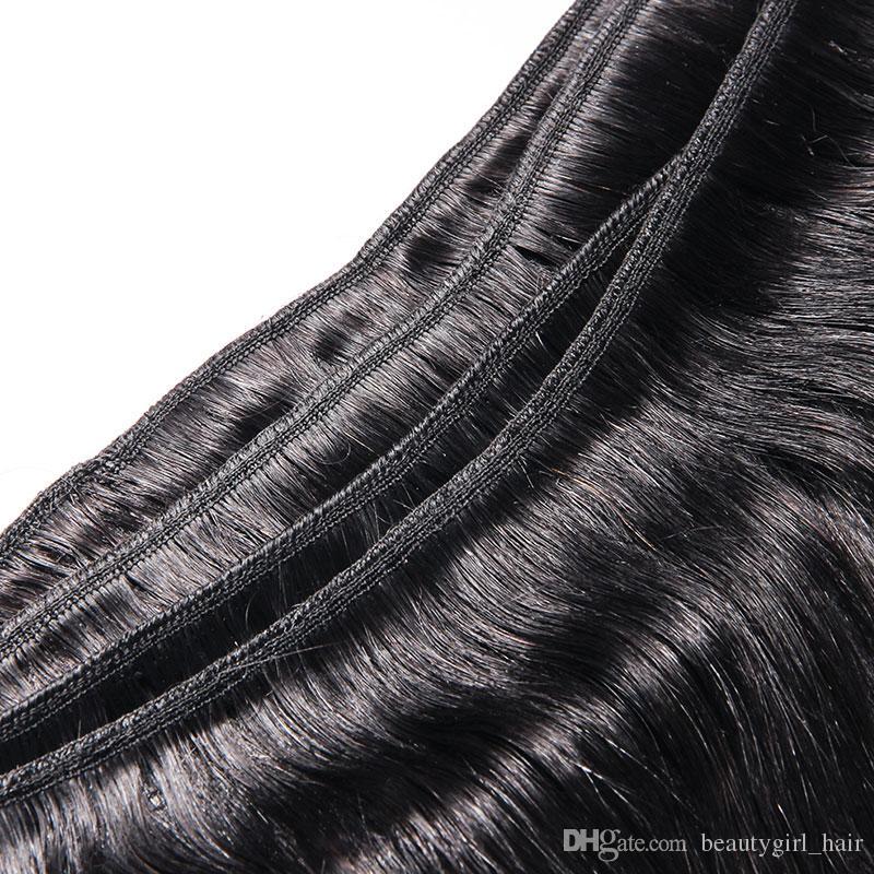 جديد وصول الماليزي مستقيم الشعر البشري الطبيعي الأسود 3 حزم / الكثير 7a الخام عذراء الشعر البرازيلي الهندي بيرو رخيصة الشعر