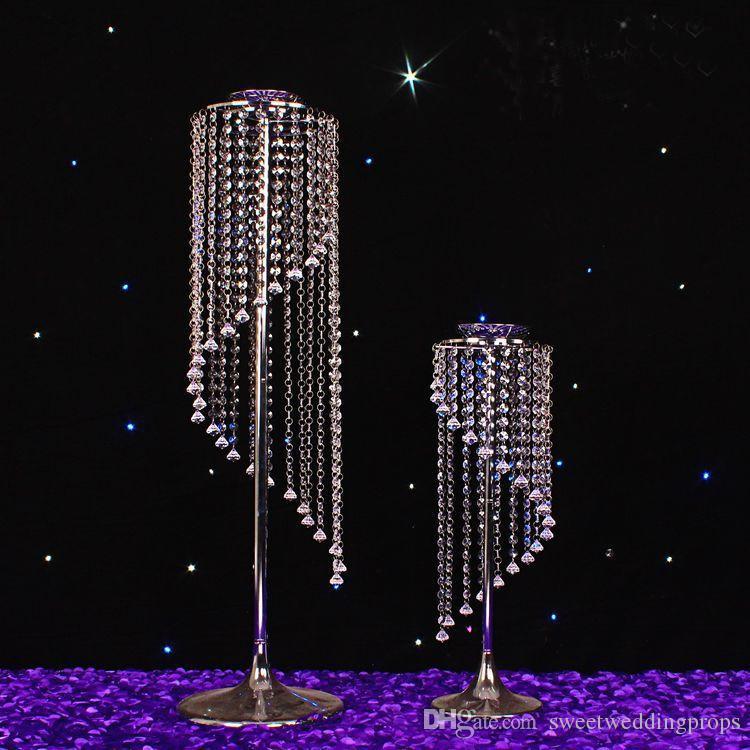 Yeni reçine saksı / düğün çiçek vazo ile kristal / centerpiece / Roma sütun yol açar çiçek şişe mefruşat ürünleri