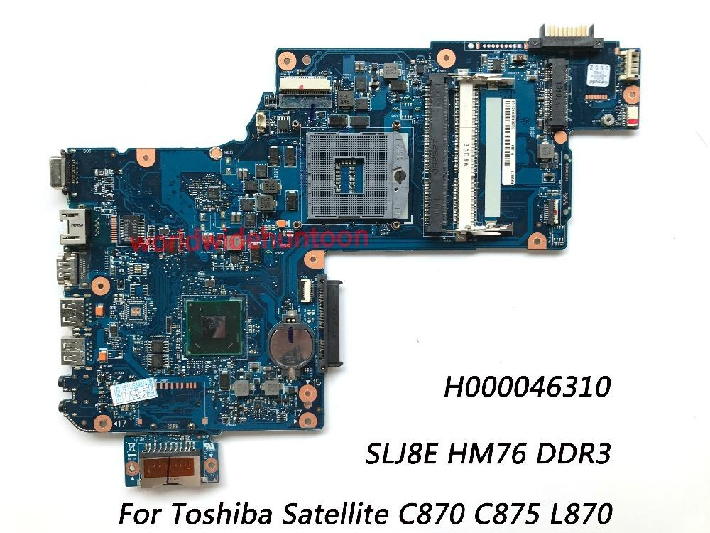 Classy Laptop Motherboard For Toshiba Satellite C870 C875 L870 Motherboard H000046310 SLJ8E HM76 DDR3 100% Fully Tested