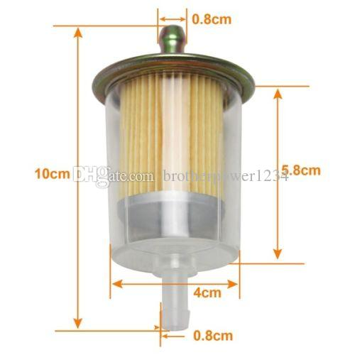 FUEL FILTERS INDUSTRIAL HIGH PERFORMANCE UNIVERSAL INLINE GAS FUEL LINE 8MM