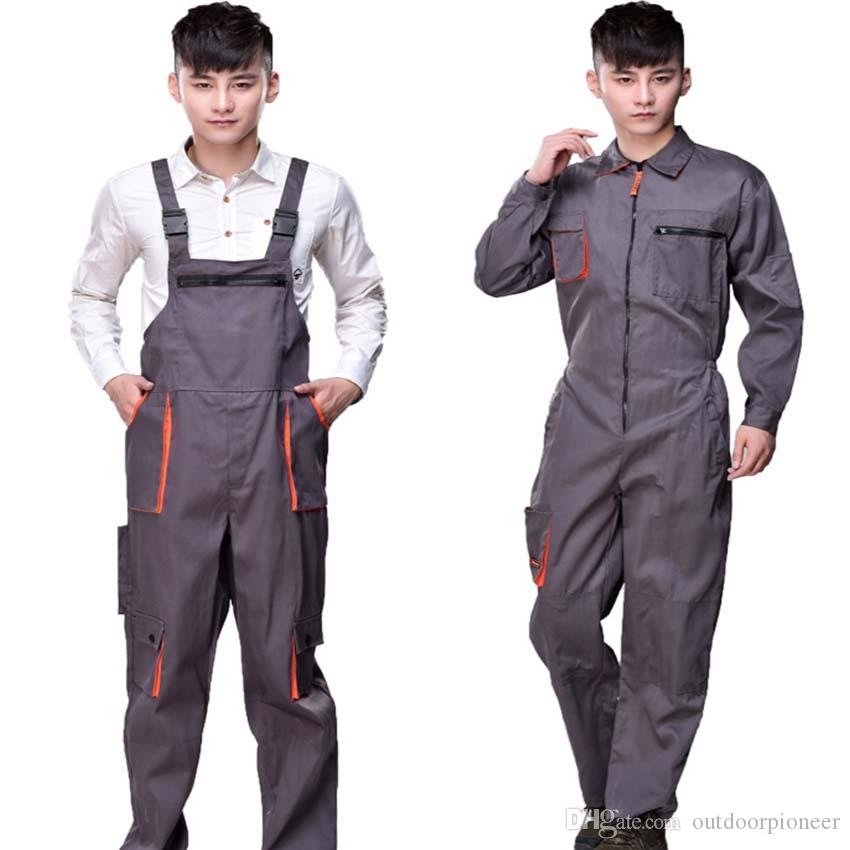 Work Overalls Men Women Protective Coverall Repairman Strap ... 51e9cf1f3b2