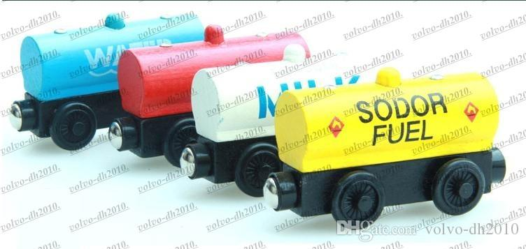 Trens de madeira Pequenos Trens Brinquedos Dos Desenhos Animados 70 Estilos Trens Amigos Trens De Madeira Brinquedos Do Carro Melhor Presentes de Natal DHL Frete Grátis LLFA11