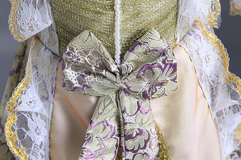 2017 marca new purple floral Crianças Medieval Vestidos de festa Vitoriana meninas Aniversário veneza real Vestido trajes