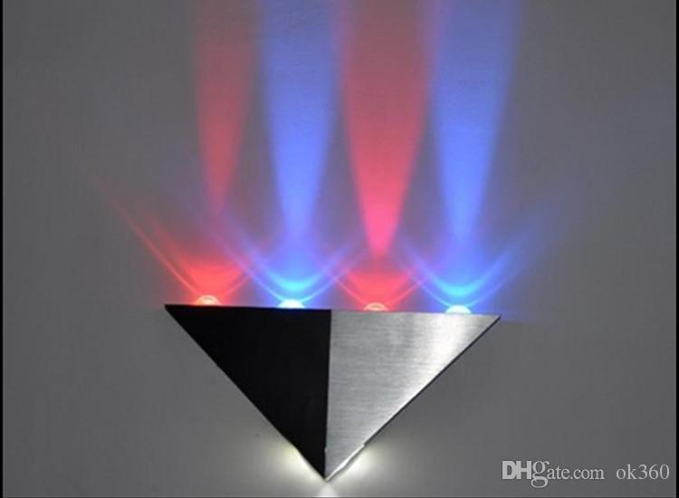 5 W Triângulo CONDUZIU a luz de parede Arandelas Espelho lâmpada Retroiluminado llight LED Corredor luz CONDUZIU a lâmpada de fundo bar KTV sala levou holofotes