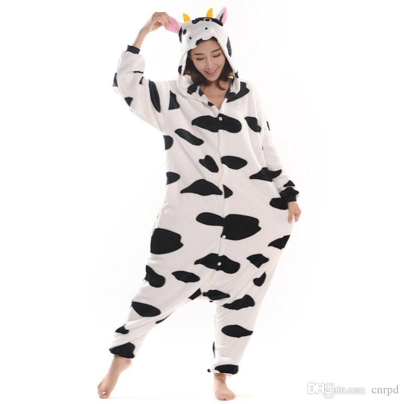 f4fd84cf6e37 Cow Unisex Adult Flannel Hooded Pajamas Adults Cosplay Cartoon Cute Animal  Onesies Sleepwear For Men Women Buy Cosplay Outfits Animated Character  Costumes ...