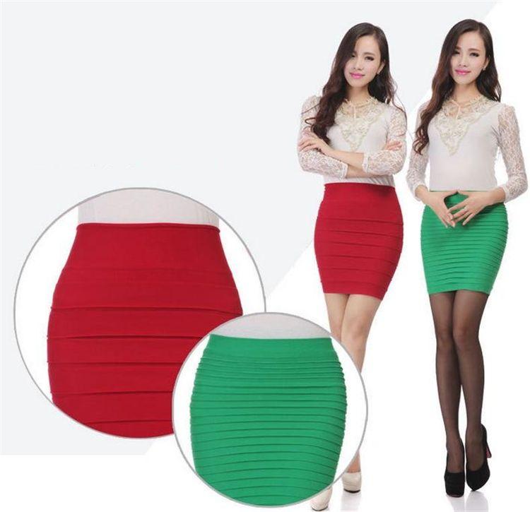 Mini saias das mulheres novas saias de cintura alta curto trabalho formal Uma linha Stretch club desgaste skrits lápis Saias Casuais para a mulher 2853