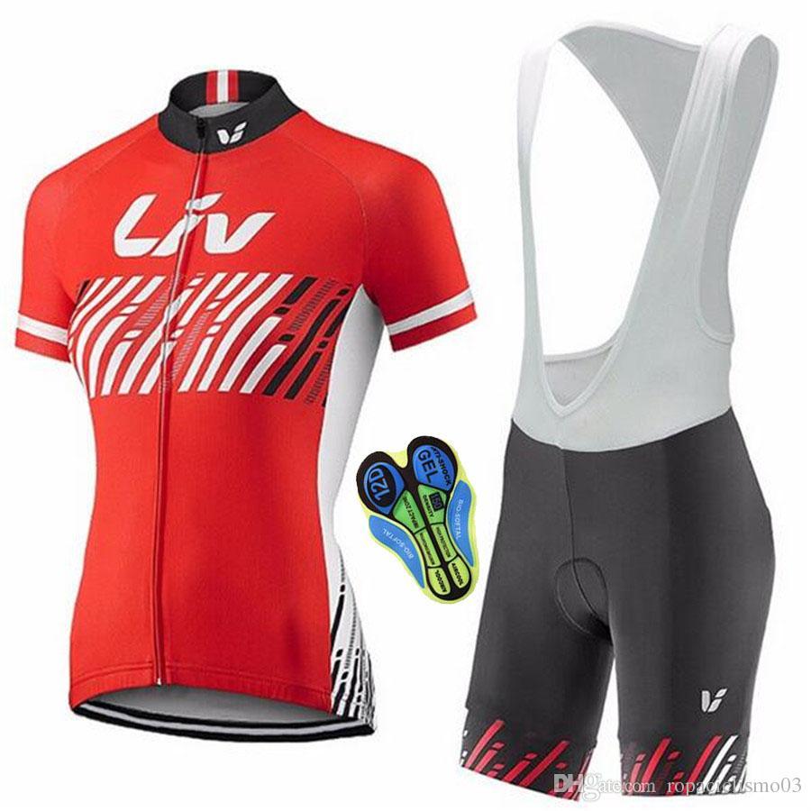 Short Sleeve 2017 Cycling Jersey Team LIV Cycling Clothing Bib ... 060402b81