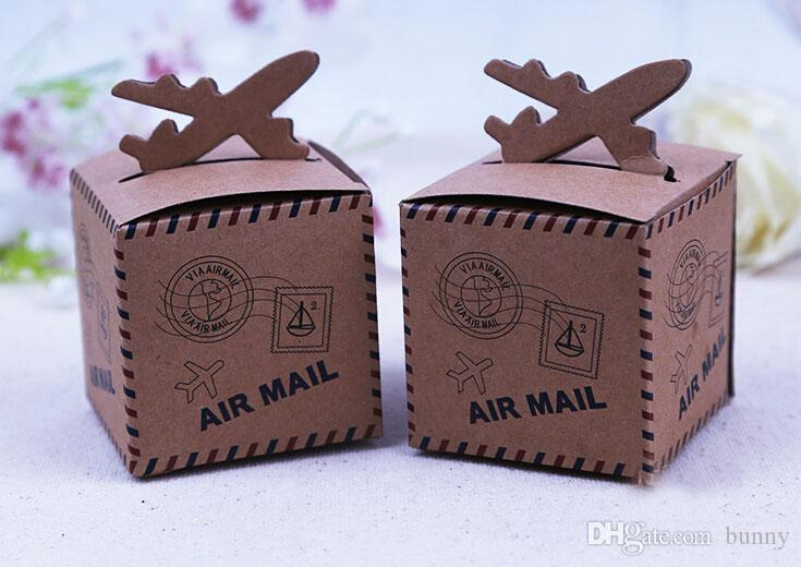 Brown Airplane Candy Boxes Wedding Favor Holders Love For You Gift 2016 May Style Large Small From Bunny 4021
