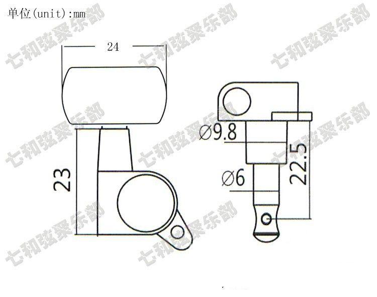T30 3R3L 어쿠스틱 기타 튜너 문자열 버튼 튜닝 못 키 악기 액세서리 기타 부품