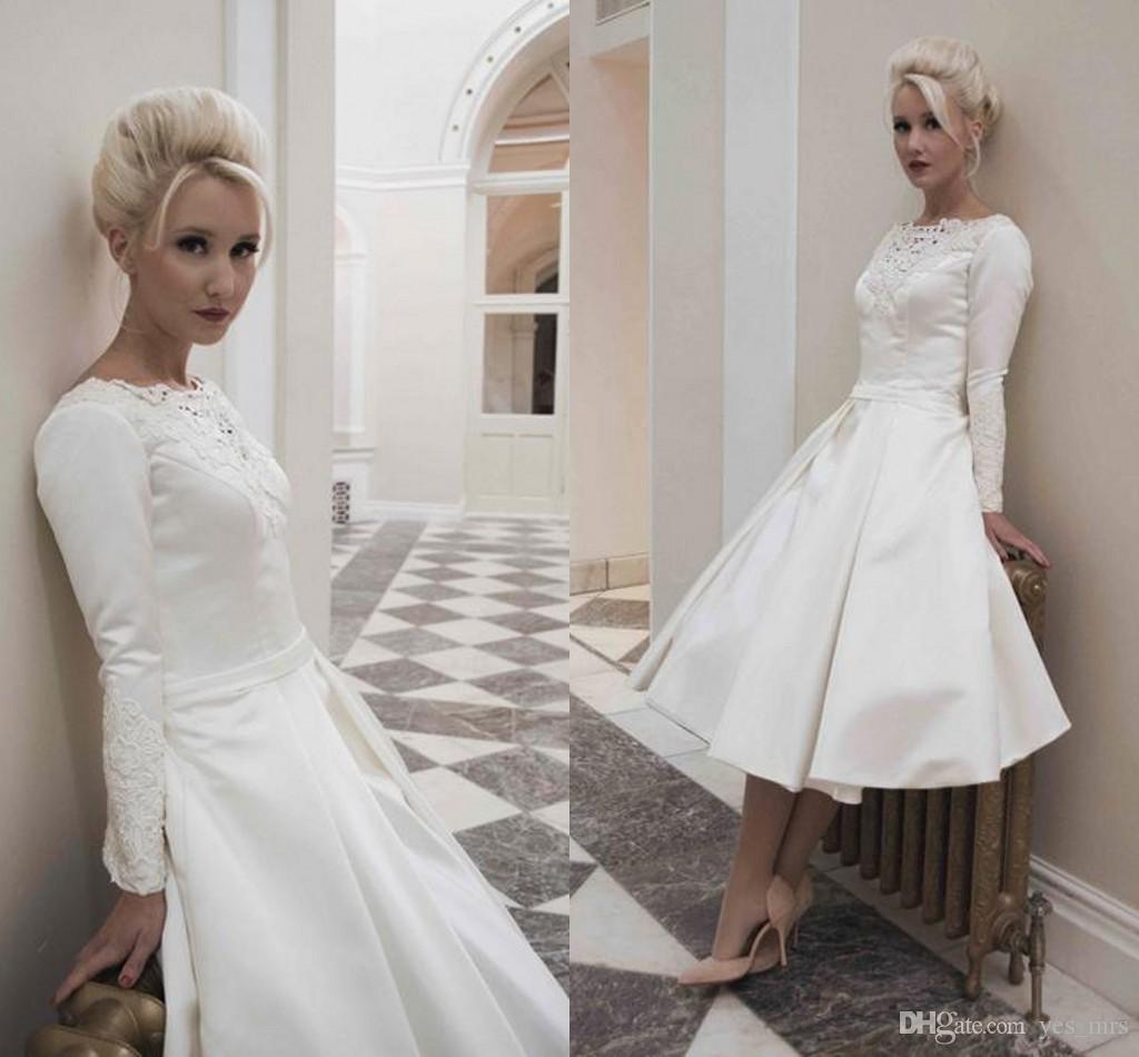 2016 New Cheap Simple Vintage 50'S Style Retro Wedding