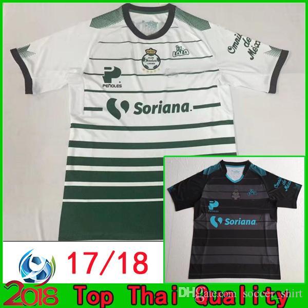 284ce3dd684 2019 Top Thai Quality 2017 2018 Mexico Club SANTOS LAGUNA DE TORREON Home  Soccer Jerseys 17 18 Camisetas Away Black Football Shirts From  Soccer_shirt, ...