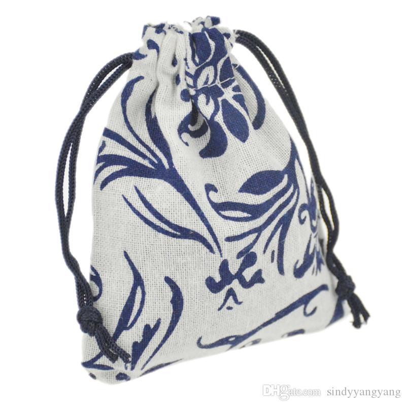 JLB الرباط حقيبة الحقائب والمجوهرات مصر والهند حزمة هدية كيس القطن الغامض الملونة 9.5x11.5cm