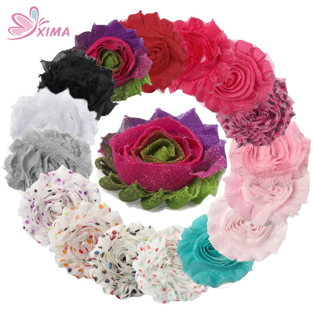 Xima Diy Headmade 25 Frayed Chiffon Shabby Flower Rose Flower For