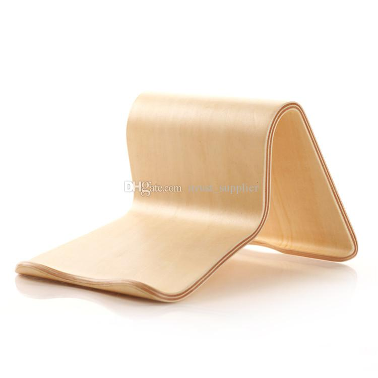 Wooden Mobile Tablets Stand Holder for iPad Air 6 5 For Galaxy Tab Note 10.1 8.0 Tab2/3/4 Two Colors