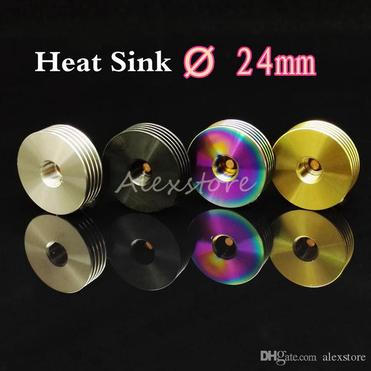 Heat Sink Adaptor 510 Finned Heatsink Adapter Insulator for 510 Thread Bottom Attached 22mm 24mm RDA RBA Atomizers Overheating Protection
