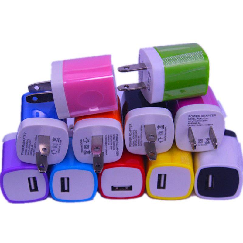شاحن الجدار 5 فولت 1000mAh 1a الاتحاد الأوروبي الولايات المتحدة محول الطاقة لفون سامسونج بلاك بيري هتك الهاتف المحمول GPS MP3