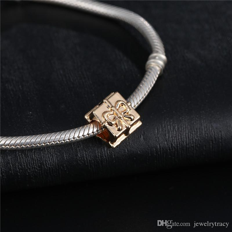 Golden Charm Plated 14K Gold Beads fit Snake Chain Bracelets Jewelry Pandora Charms best Halloween gifts gold charm beads for Pandora chain