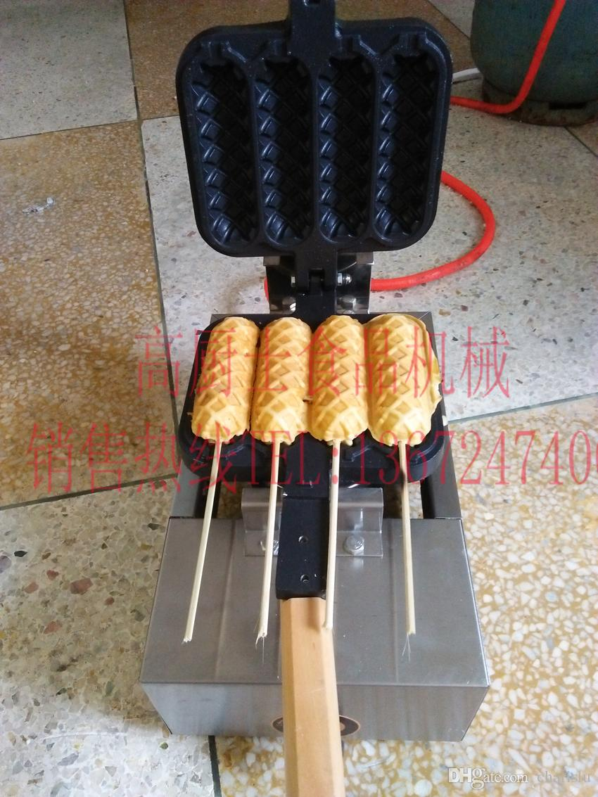 Gas type Hot dog waffle maker hotdog stick