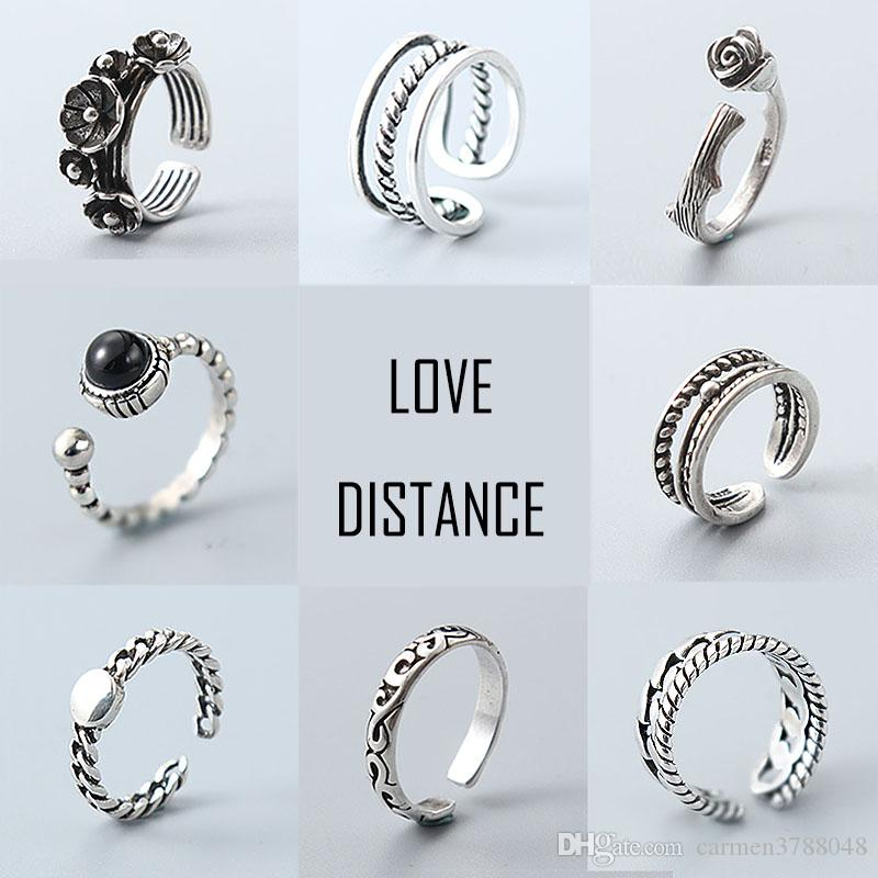 s925 rings for women silver rings vintage band rings mixed designs jewelry cheap bulk price pearl engagement rings matching wedding bands from carmen3788048 - Pandora Wedding Rings