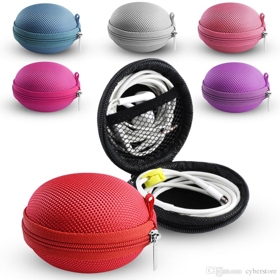 Bolsa con cremallera Cable para auriculares Mini caja Tarjeta SD Portátil Monedero Bolsa para auriculares Estuche portátil Bolsillo Funda Cubierta de almacenamiento Auricular Bluetooth