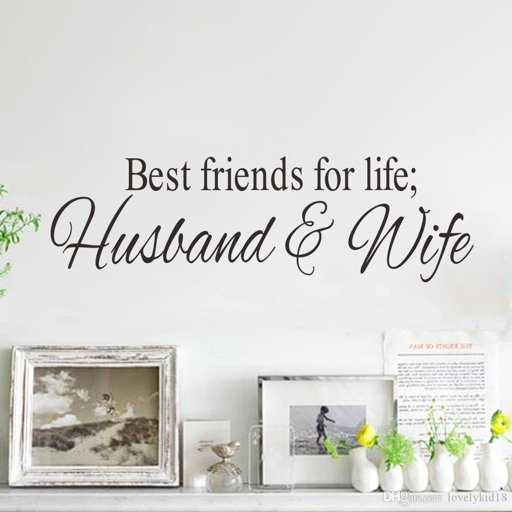 best friends for life husband wife wall stickers quotables best friends for life husband wife wall stickers quotables characters wall decals wallpaper art home room decor ws283 flower wall decals flower wall