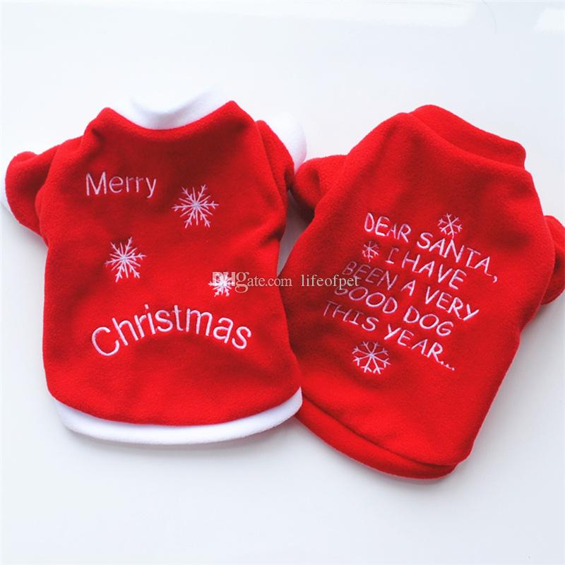 Christmas Pajamas For Dog.2019 Christmas Pet Dog Clothes Shirt Dog Pajamas Puppy Outfits For Dog Costume Halloween Yorkshire Chihuahua Clothes From Lifeofpet 3 02
