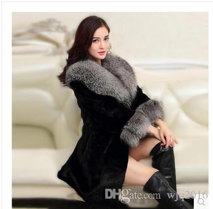 2017 Winter Women Luxury Fur Jacket Thick Long Mink Coat High End ...