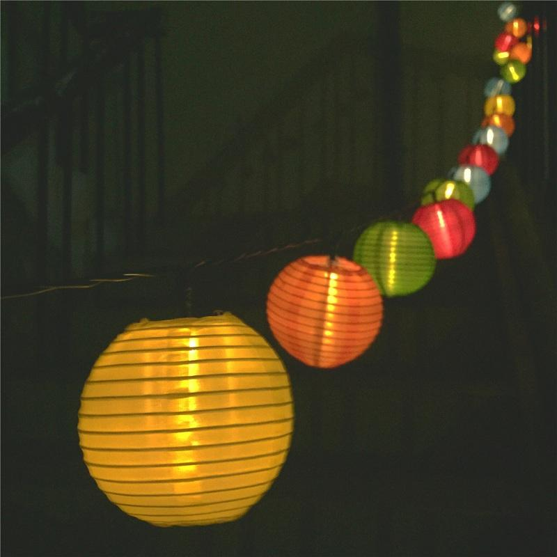 Lantern Ball Solar String Lights 6m 20 LEDs Solar Lamp Outdoor Lighting Fairy Globe Christmas Decorative Light for Party Holiday