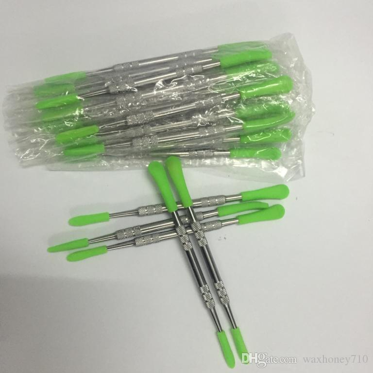 Низкая цена воск dabbers титан dabber инструменты воск силиконовый наконечник инструмент dab 121 мм для мазок испаритель OEM марка принять индивидуальный логотип