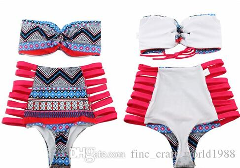 Nuovo costume da bagno senza bretelle la classica vita alta Bikini donne moda costumi da bagno sexy costumi da bagno Beach Party Suit