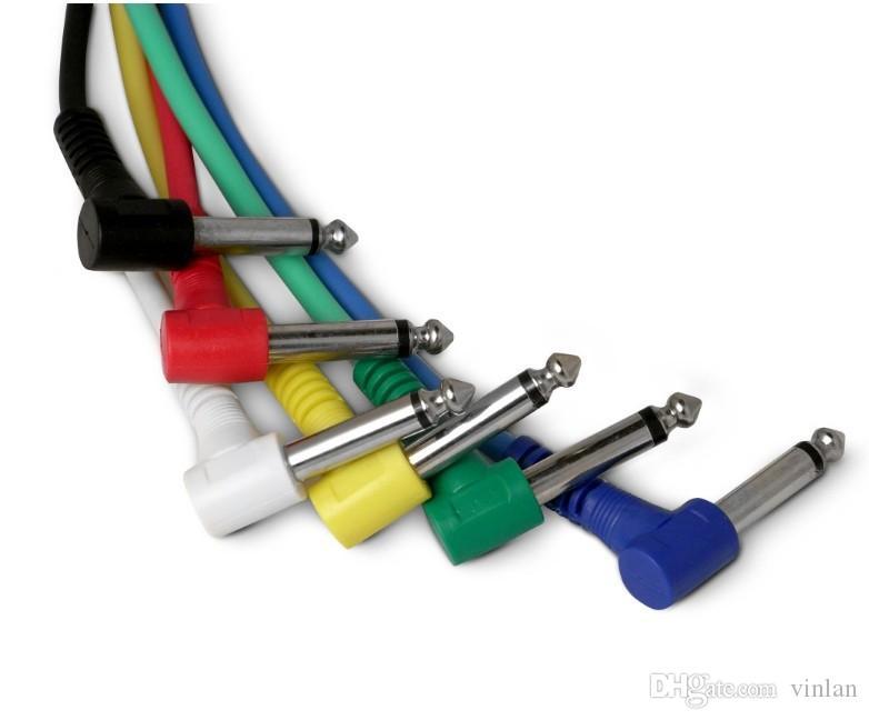 6 unids x 30 cm Guitarra Pedal Cable Amplificador de Guitarra Cable de Audio partes de la guitarra instrumentos musicales